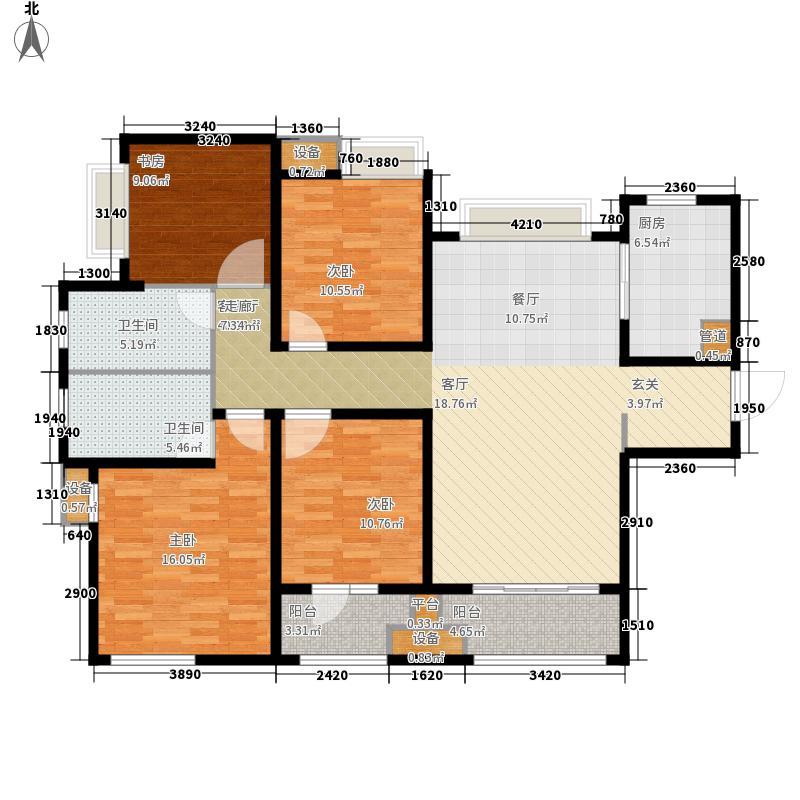 九龙仓时代上城132.00㎡G5户型4室2厅