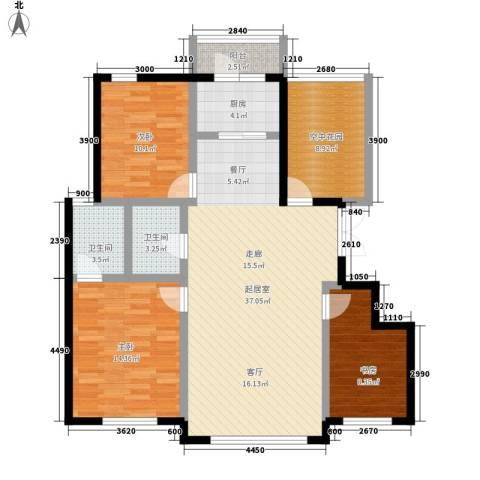 万城华府3室0厅2卫1厨133.00㎡户型图