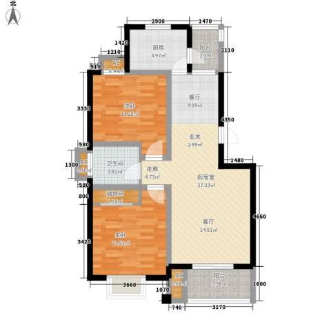 金厦水语花城2室0厅1卫1厨101.00㎡户型图