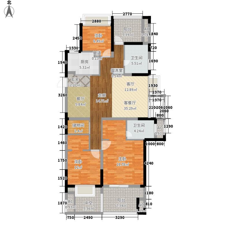 天阳尚景国际二期129.00㎡A1户型4室2厅2卫