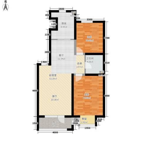 保莱蓝湾国际2室0厅1卫1厨108.00㎡户型图