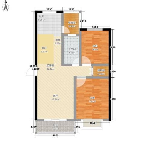 天赋林溪小区2室0厅1卫0厨109.00㎡户型图