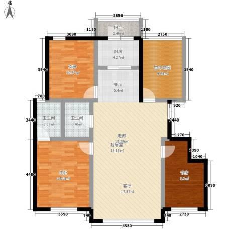 万城华府3室0厅2卫1厨120.00㎡户型图