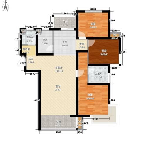 简筑3室1厅2卫1厨139.00㎡户型图