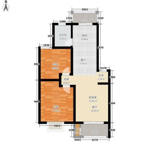 银贡山庄2室0厅1卫0厨81.00㎡户型图