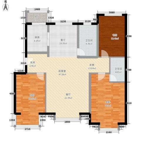 万城华府3室0厅2卫1厨159.00㎡户型图