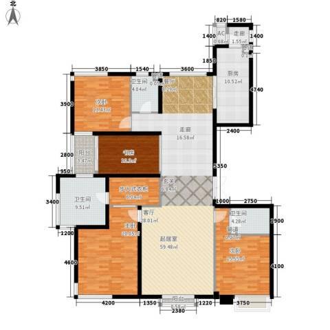 华远裘马都4室0厅3卫1厨222.00㎡户型图