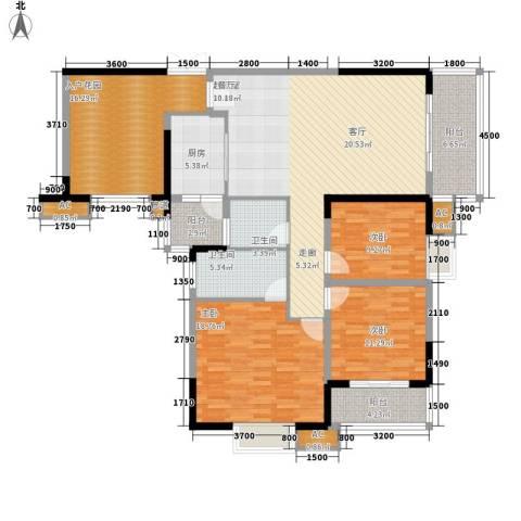 绿地翠谷3室0厅2卫1厨139.79㎡户型图