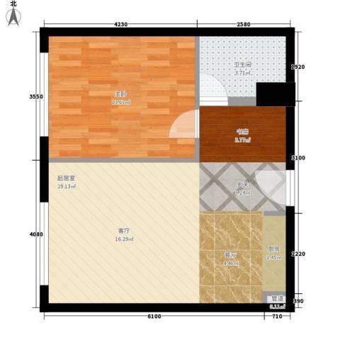 华远裘马都1室0厅1卫0厨65.00㎡户型图