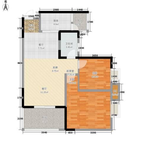 升伟新意境2室0厅1卫1厨70.00㎡户型图