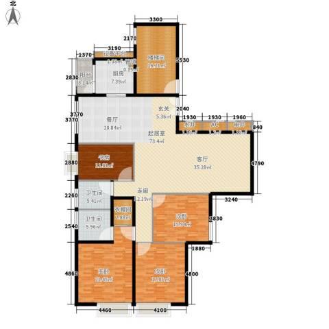 绿湾嘉景苑4室0厅2卫1厨207.00㎡户型图