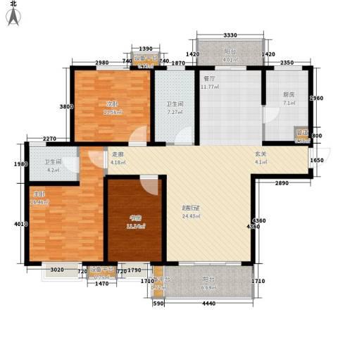 仕方国际3室0厅2卫1厨133.00㎡户型图