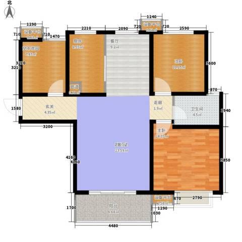 仕方国际2室0厅1卫1厨107.00㎡户型图