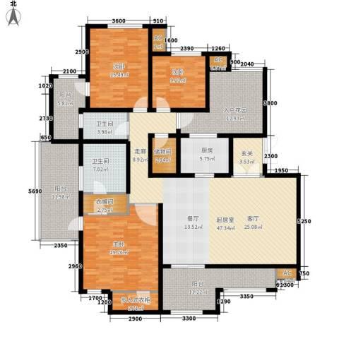 龙湖弗莱明戈3室0厅2卫1厨236.00㎡户型图