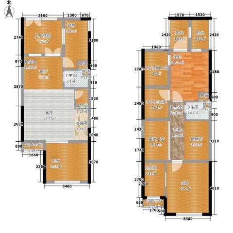 复地新城就2室0厅3卫1厨160.00㎡户型图