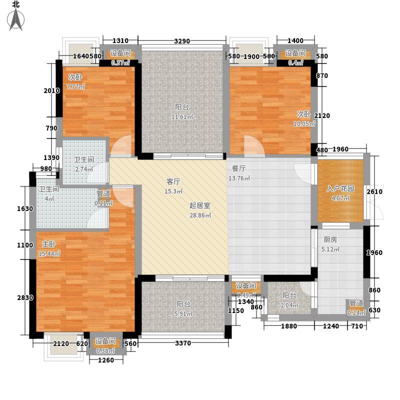 南沙碧桂园豪庭115.00㎡J74北二楼面积11500m户型