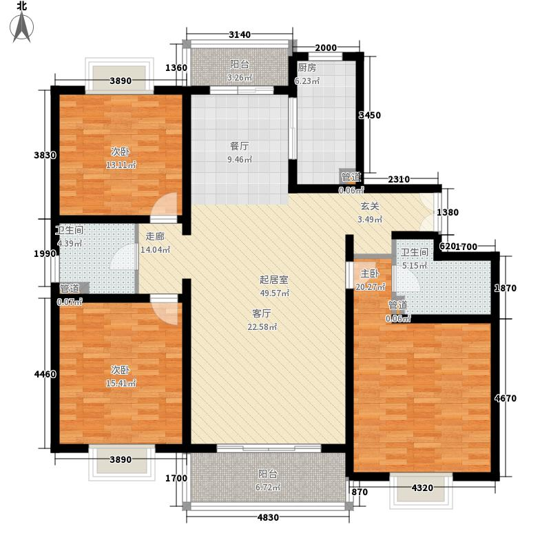 盛世名门141.68㎡盛世名城BC户型三室两厅两卫141.68、129.76平米户型3室2厅2卫