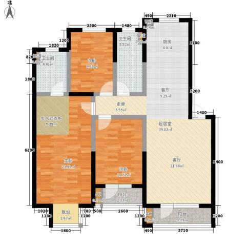 保莱蓝湾国际3室0厅2卫0厨144.00㎡户型图