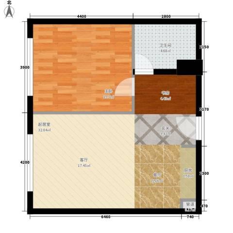 华远裘马都1室0厅1卫0厨73.00㎡户型图