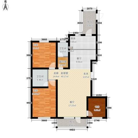 华海城3室0厅2卫1厨153.00㎡户型图