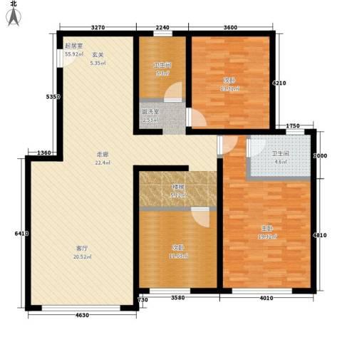 银贡山庄3室0厅2卫0厨123.00㎡户型图