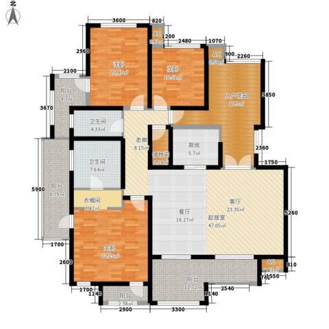 龙湖弗莱明戈3室0厅2卫1厨161.88㎡户型图