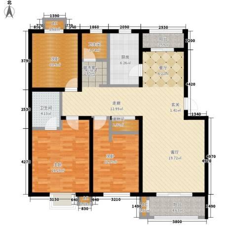 银贡山庄3室0厅2卫1厨120.00㎡户型图