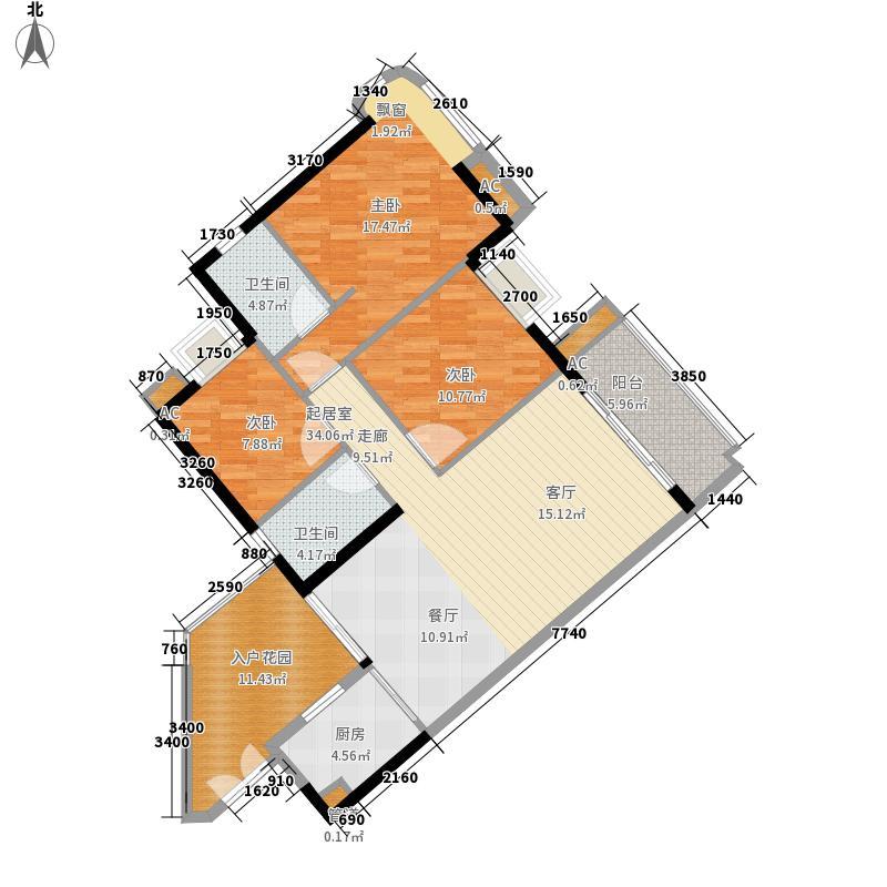 富力银禧花园115.11㎡A5-062面积11511m户型