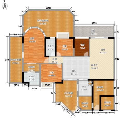 富力天河华庭4室1厅2卫1厨207.12㎡户型图
