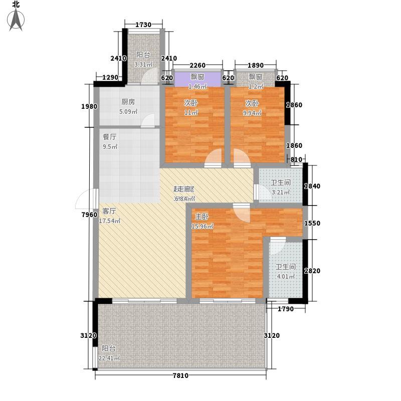 未来城科学家园125.49㎡5-03面积12549m户型
