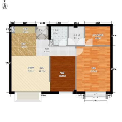 华远裘马都1室0厅1卫0厨101.00㎡户型图