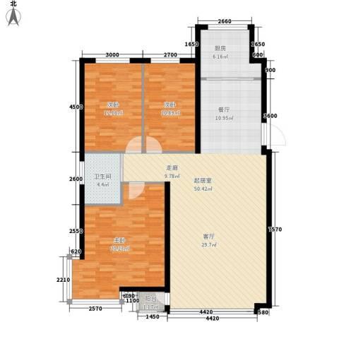 九江丽都3室0厅1卫1厨145.00㎡户型图