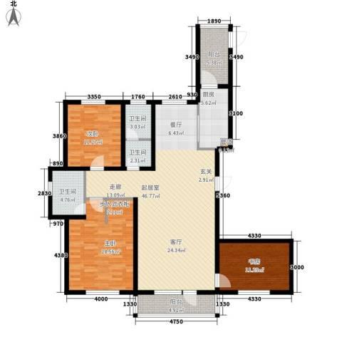 华海城3室0厅3卫1厨162.00㎡户型图