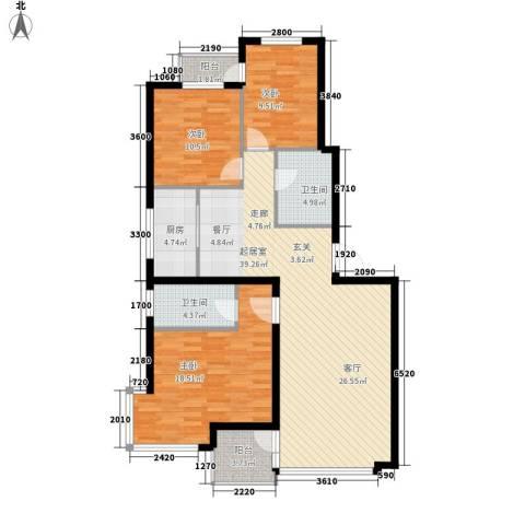 九江丽都3室0厅2卫1厨137.00㎡户型图