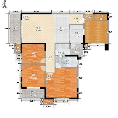 绿地翠谷3室0厅2卫1厨139.69㎡户型图