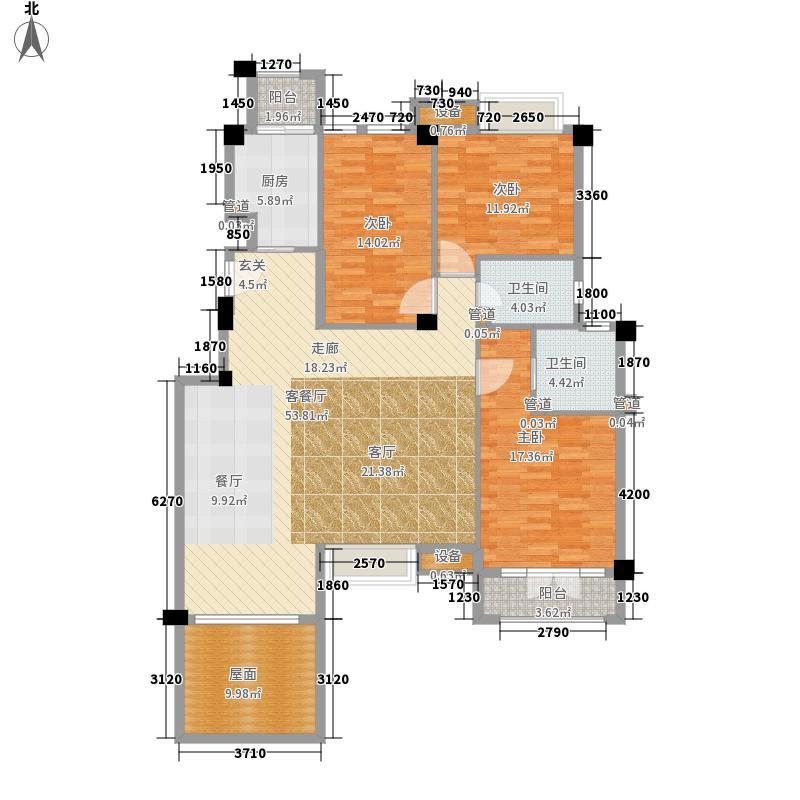 联发滨海琴墅146.00㎡洋房2层标准层A户型