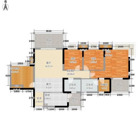 绿地翠谷3室0厅2卫1厨140.37㎡户型图