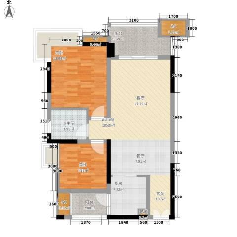 绿地翠谷2室0厅1卫1厨83.05㎡户型图