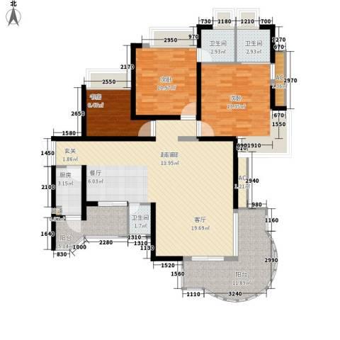 皇冠自由城3室0厅3卫1厨114.00㎡户型图