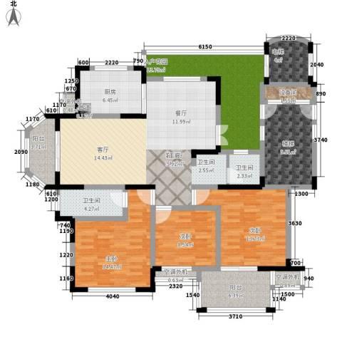 东方世纪城3室1厅2卫1厨186.00㎡户型图