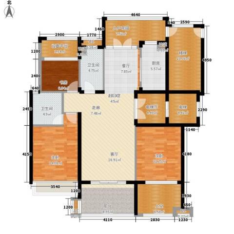 勤业镜悦府3室0厅2卫1厨150.42㎡户型图