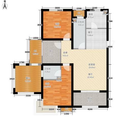 富立·秦皇半岛2室0厅2卫1厨120.00㎡户型图