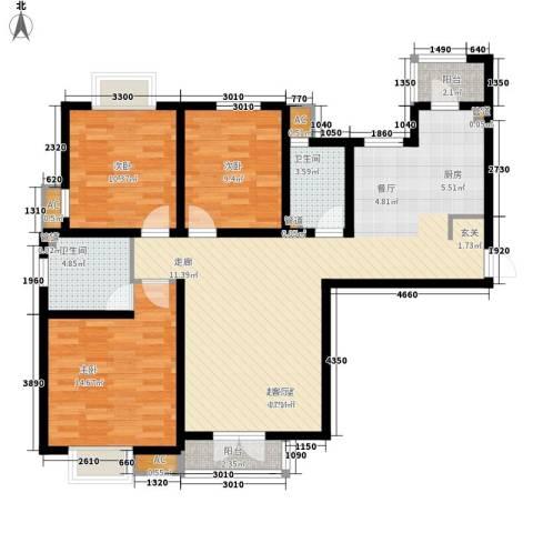 长瀛御龙湾3室0厅2卫0厨130.00㎡户型图