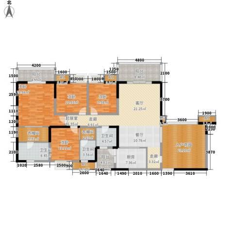 绿地翠谷4室0厅3卫1厨193.58㎡户型图