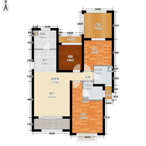 富立·秦皇半岛3室0厅2卫1厨122.00㎡户型图