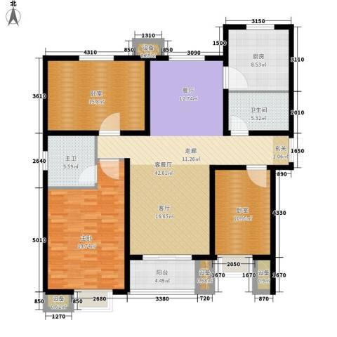 赵都新城1室1厅1卫1厨132.00㎡户型图