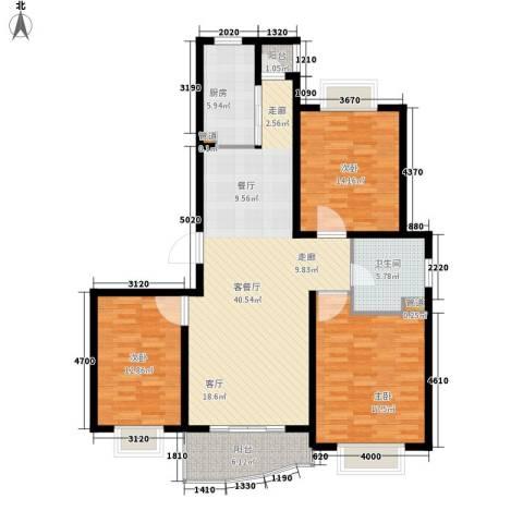 象牙新村3室1厅1卫1厨147.00㎡户型图