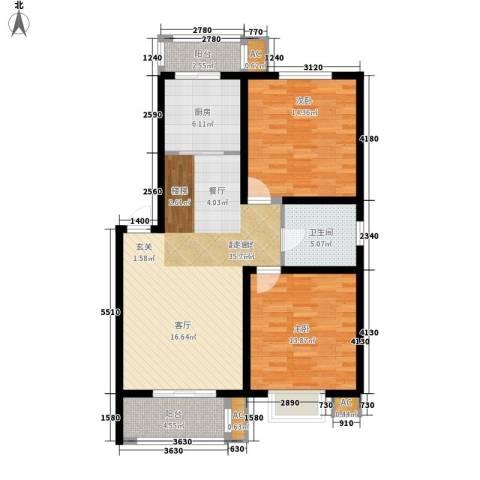 银贡山庄2室0厅1卫1厨91.00㎡户型图