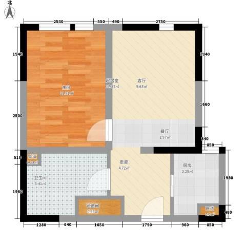 D-House1室0厅1卫1厨65.00㎡户型图