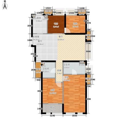 栖庭4室0厅2卫1厨142.00㎡户型图